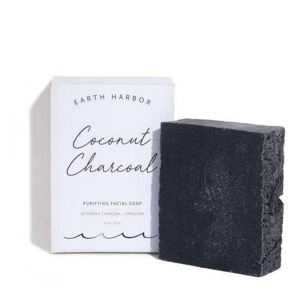 Facial Soap: Coconut Charcoal + Spirulina