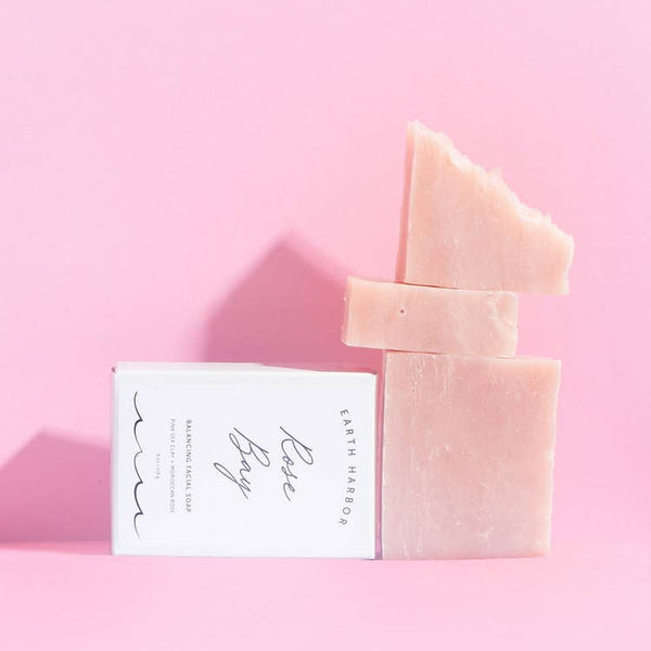 Facial Soap: Pink Sea Clay + Rose