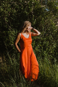 Wynn Jumpsuit - Orange