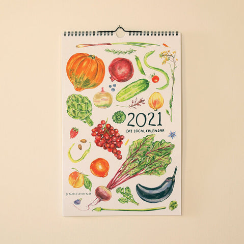 2021 Seasonal Produce Calendar by Maria Schoettler