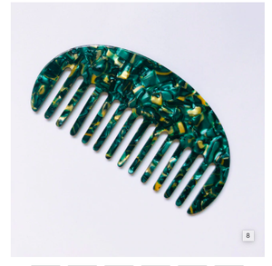 Curved Comb - Malachite