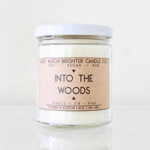 Soy Candle // Into the Woods: Spruce + Fir + Pine // 8oz
