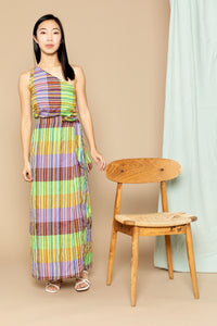 Aretha One Shoulder Top - Yellow Stripe