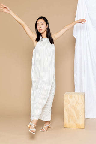 Chloe Maxi Dress - Sage Stripe