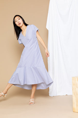 Stephanie Dress - Blue Stripe