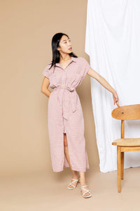 Danielle Shirt Dress - Mauve Plaid