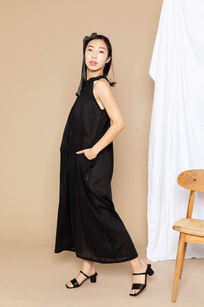 Chloe Maxi Dress - Black Sheer