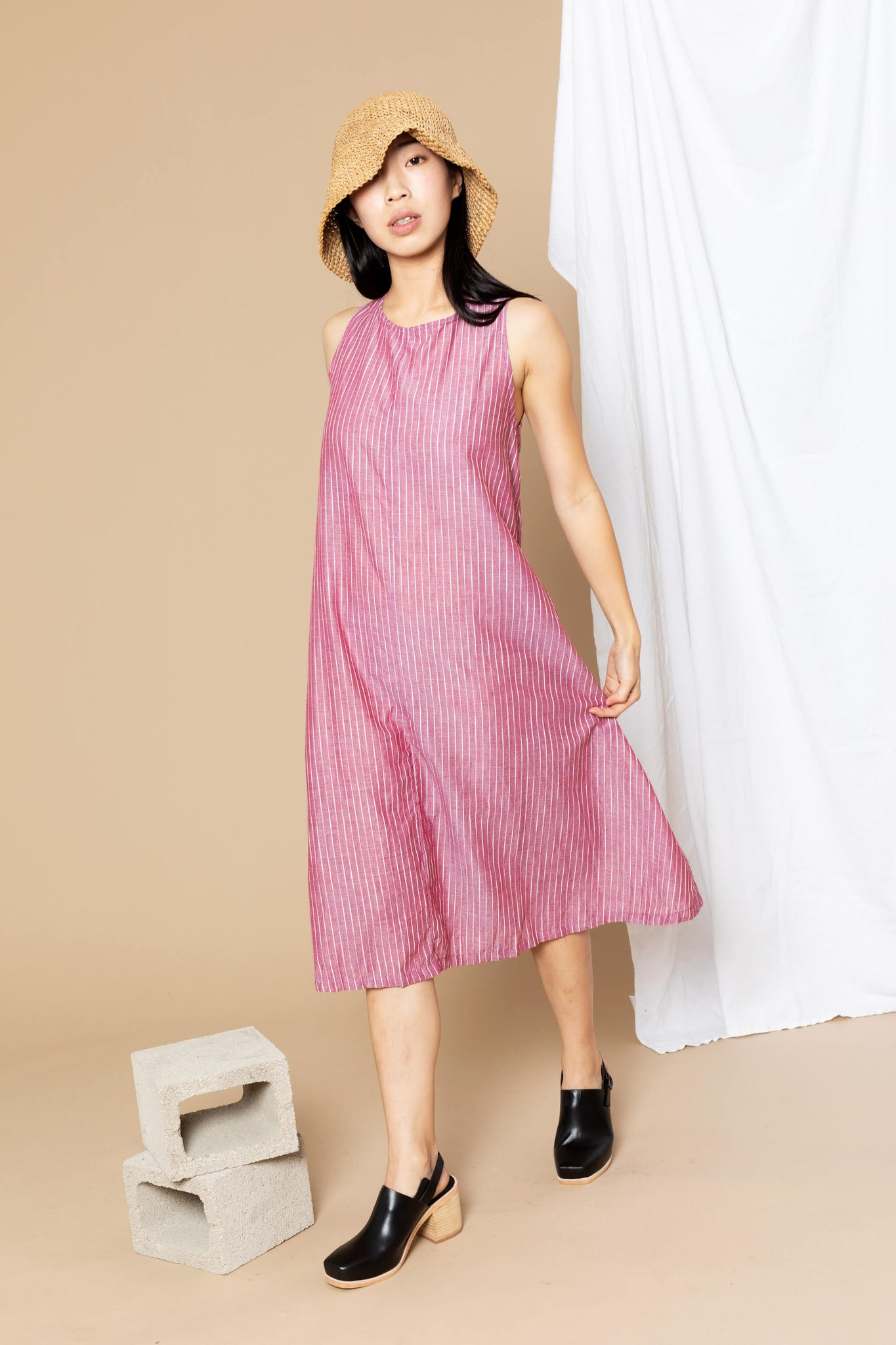 Ash Tent Dress - Red Stripe