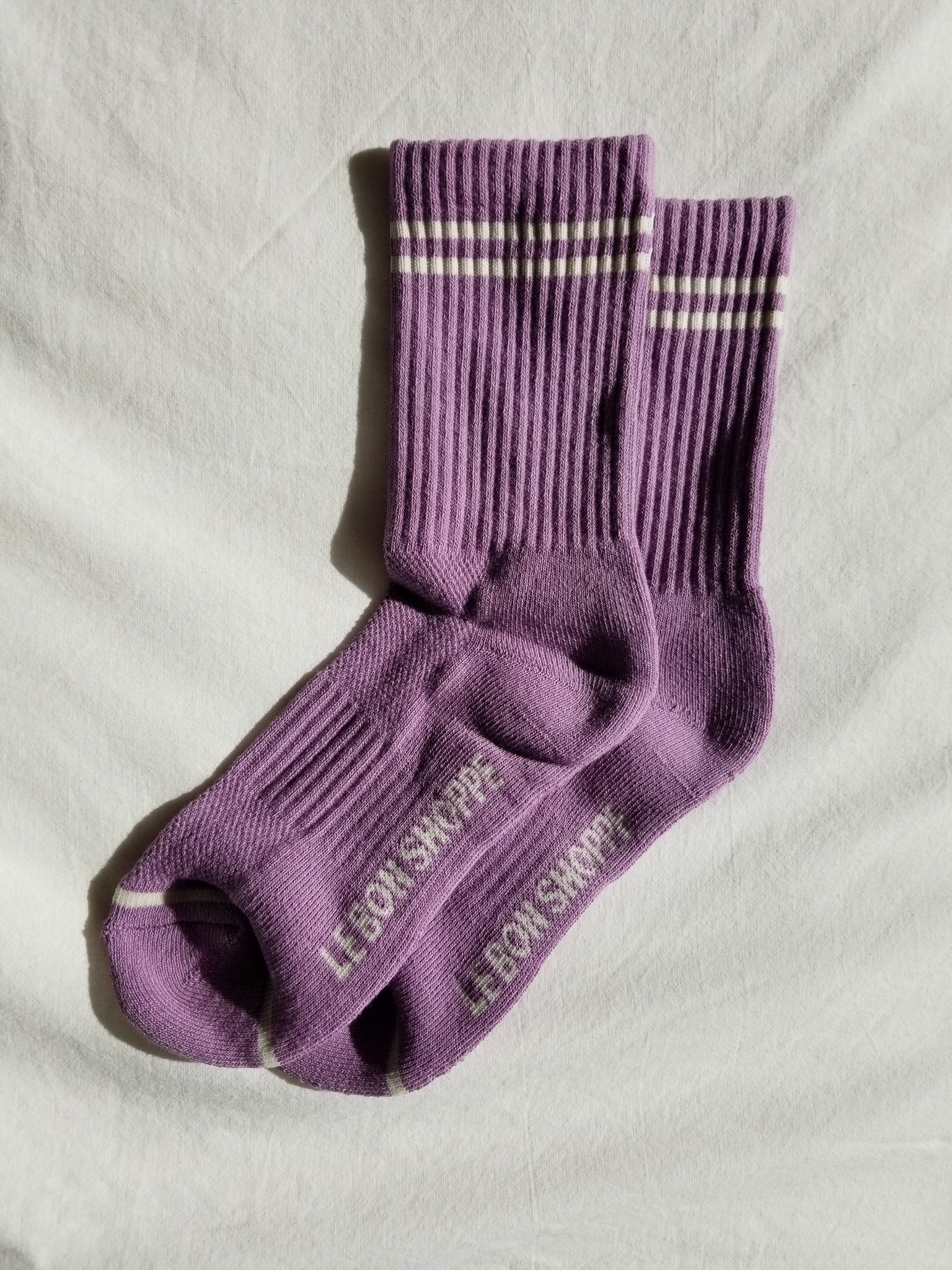 Le Bon Shoppe Boyfriend Socks - Grape