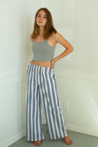 Jaclyn Beach Pants - Blue/White Stripe - S/M