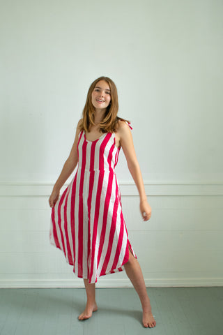 Wynn Jumpsuit - Red/White Stripe - XS