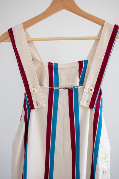 Nora Bib Overalls - Red/White/Blue Stripe - M/L