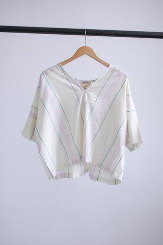 Bailey Boxy Top - Cream Stripe - S/M