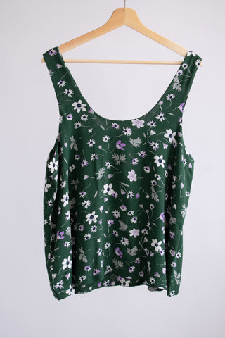 Robin Tank Top - Green Floral