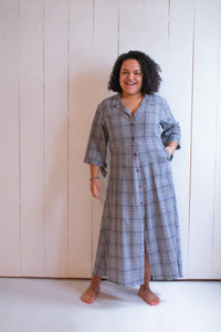 Conrado Morgan Cotton Plaid Shirt Dress