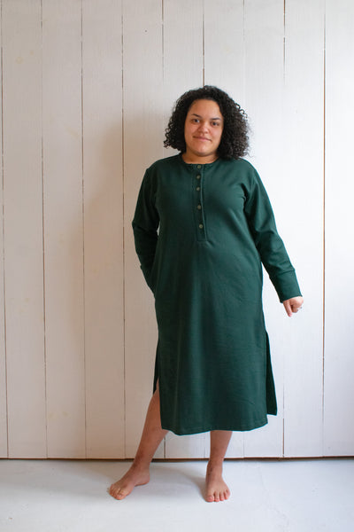 Varon Sweatshirt Dress- Emerald