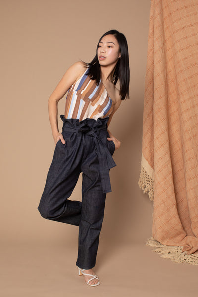 Wren Paperbag Pants - Denim