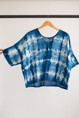 Indigo Bailey Boxy Top Cotton #1 - L/XL