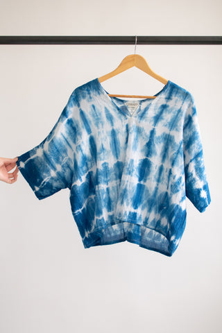 Indigo Bailey Boxy Top Cotton #2 - S/M