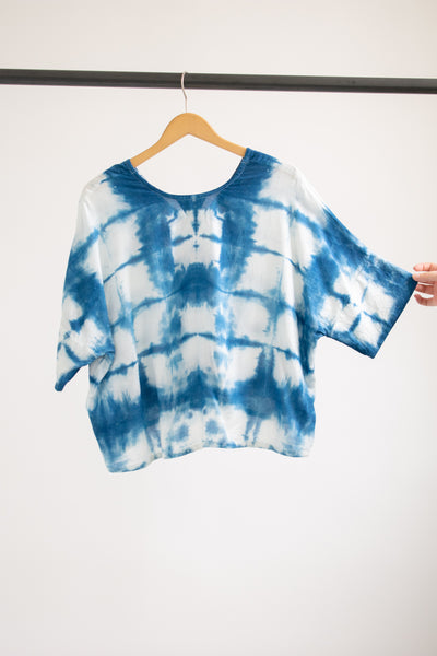 Indigo Bailey Boxy Top Cotton #4 - S/M