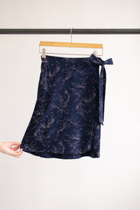 Jayden Wrap Skirt - Navy Print