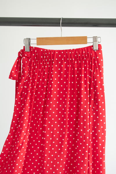 Jayden Wrap Skirt - Red Dots