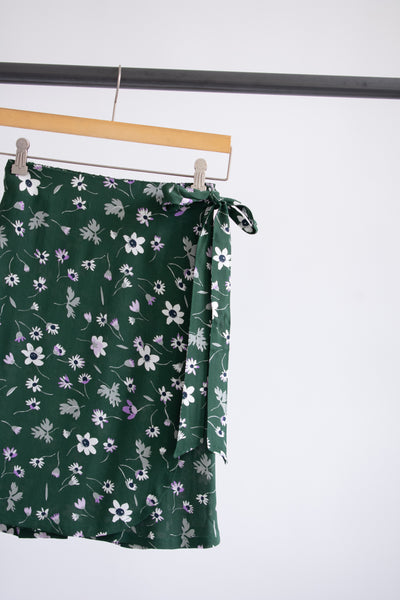 Jayden Wrap Skirt - Green Floral