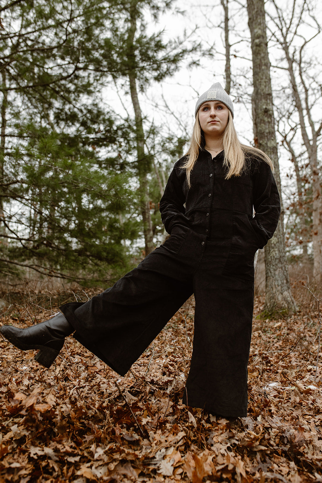 Willie Longsleeve Coveralls - Cotton Black Velvet