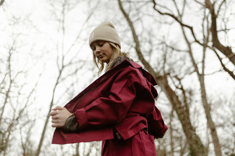 Nicole Painter Chore Jacket - Burgundy