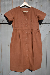 Christina Babydoll Dress - Rust
