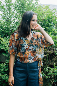 Catherine Top Floral