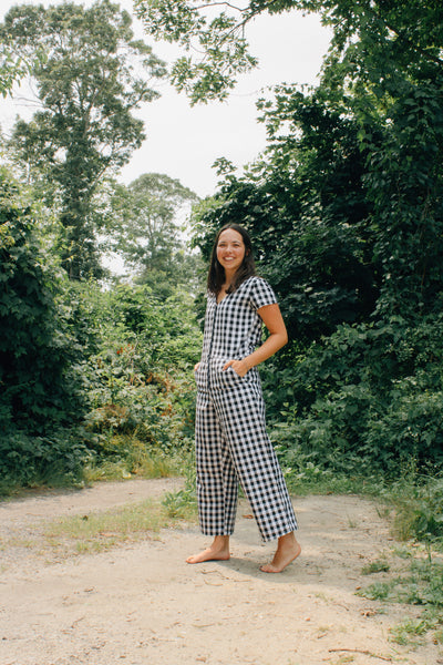 Kate Jumpsuit with Ties - Gingham