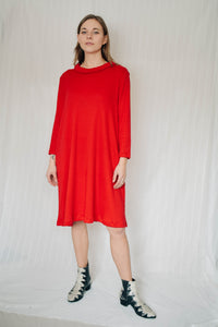 Gia Swing Jersey Dress - Red