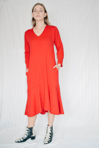 Stephanie Ribbed Jersey Midi Dress