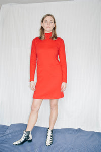 Cassie Jersey Mini Dress - Red - XS/S