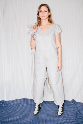 Kate Jumpsuit with Ties - Beige
