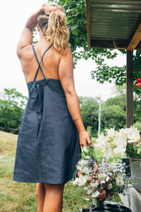 Aina Apron Skirtalls - Chambray