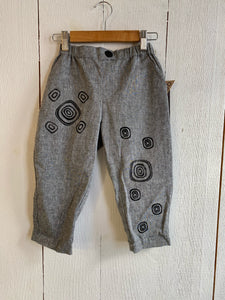 Ollie Handprinted Pants for Kids - Size 4Y