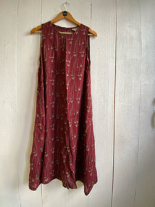 Ash Tent Dress - Maroon Print