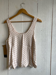 Robin Tank Top - White Red Dot