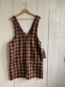 Althea Wool Skirtalls - Brown Plaid - M