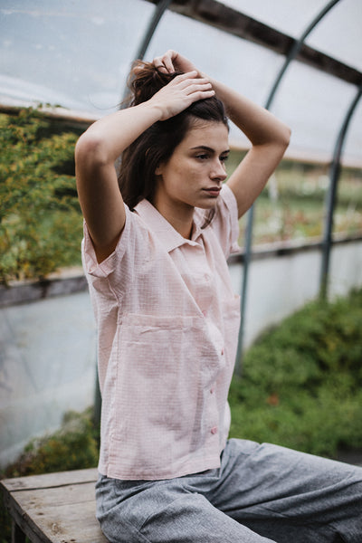 Nicole Short Sleeve Top - Pink