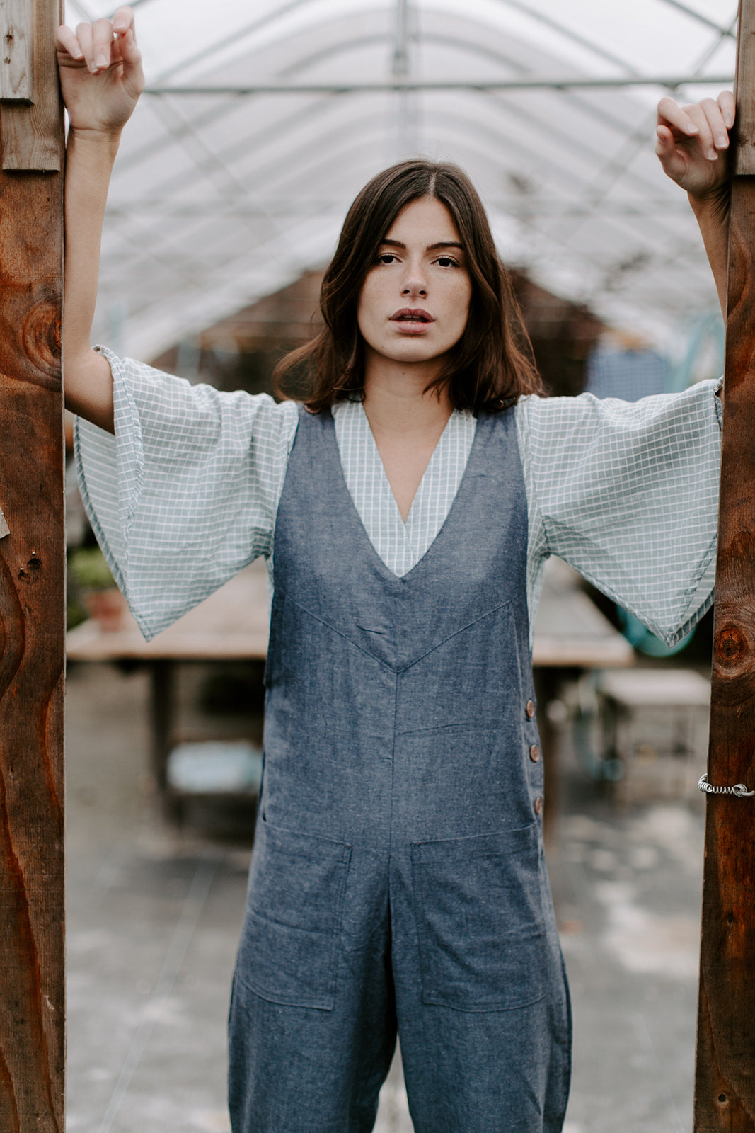 Regine Overalls - Blue Grey