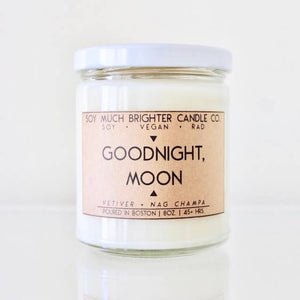 Soy Candle // Goodnight, Moon: Vetiver + Nag Champa // 8oz