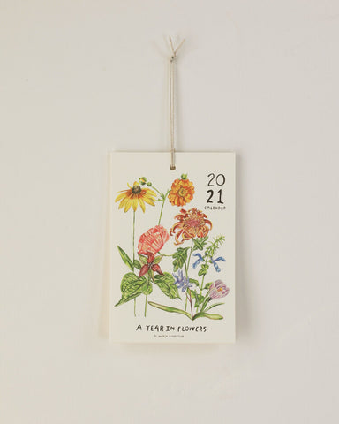 "2021 ""Year in Flowers"" Calendar by Maria Schoettler"
