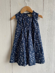 Betty Girls Dress - Navy Floral Print