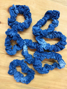 Indigo Hair Scrunchie