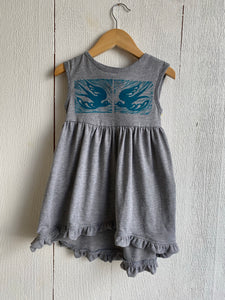 Laurel Handprinted Girls Dress by Althea Designs - Birds