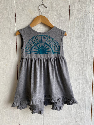 Laurel Handprinted Girls Dress by Althea Designs - Sun