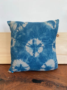Hand-dyed Indigo Linen Pillow #2